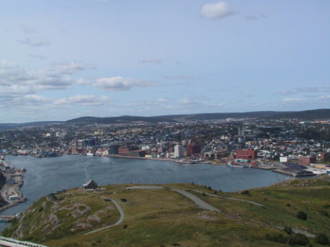 View of St Johns from Signal Hill